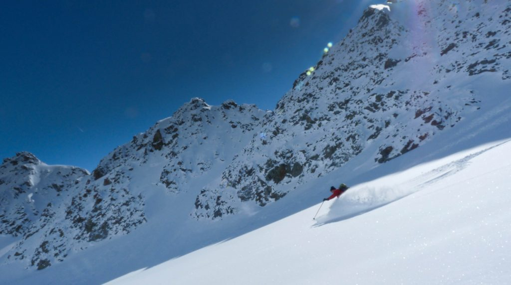 ski touring in the albula alps, graubunden switzerland