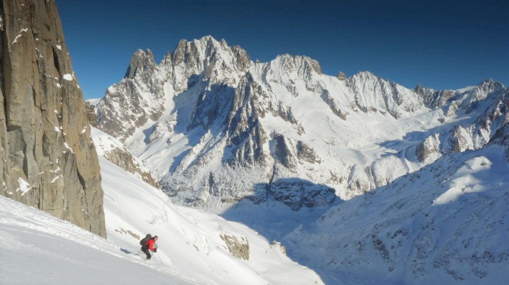 off piste skiing in chamonix