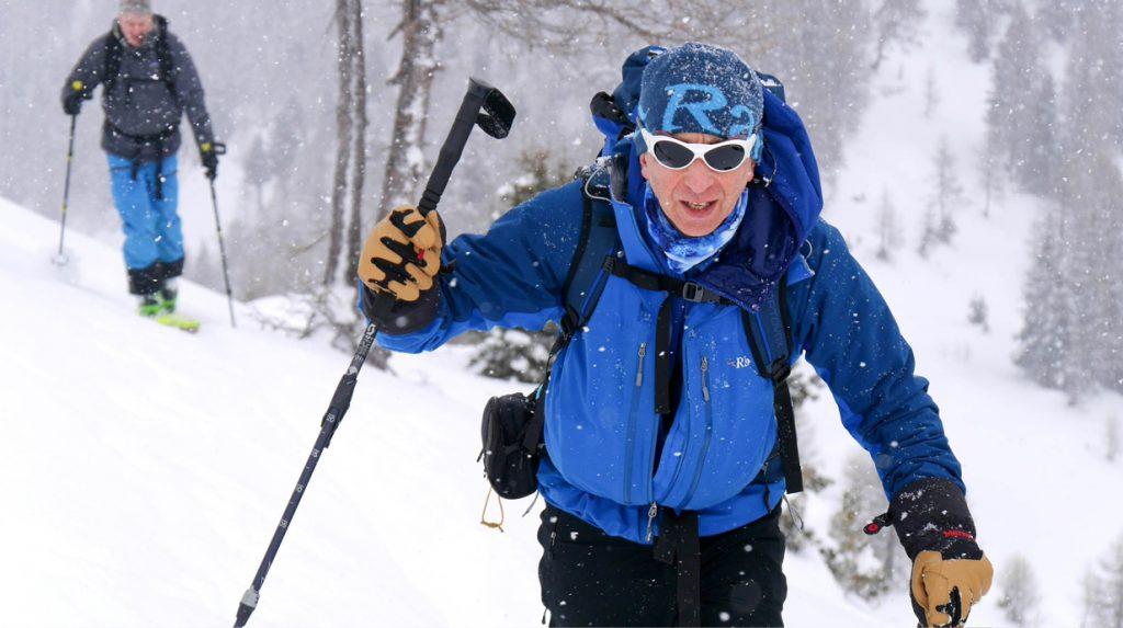 ski touring in chamonix