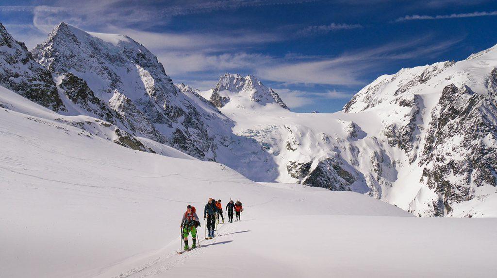 guided haute route ski tour
