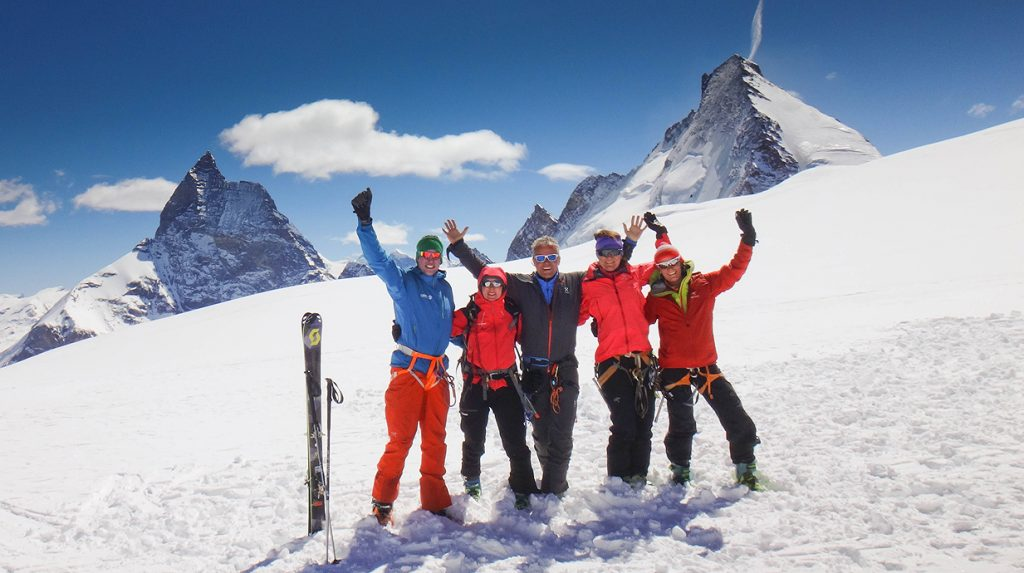 skiing the haute route with alpine guides