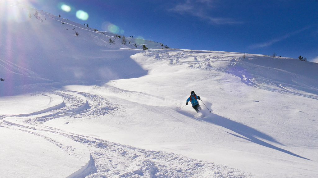 backcountry skiing in the haute maurienne valley, france