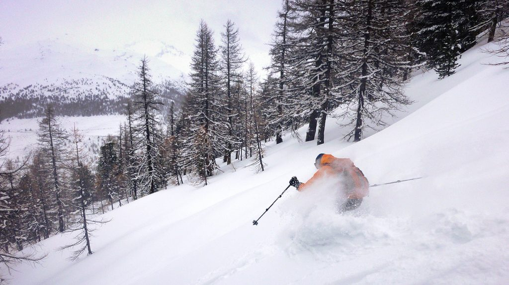 ski touring in the queyras, french alps