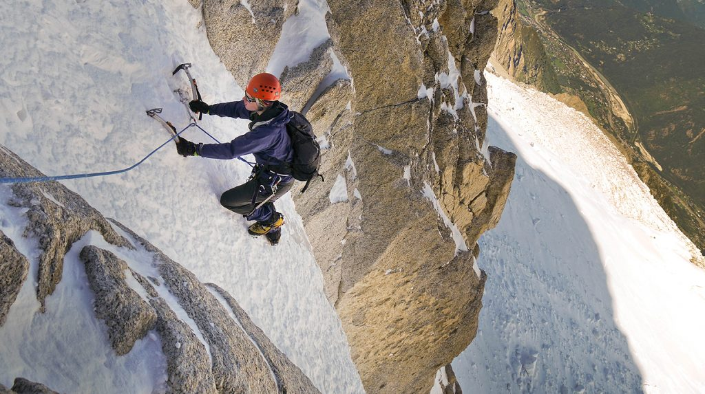 alpine ice and mixed climbing in italy