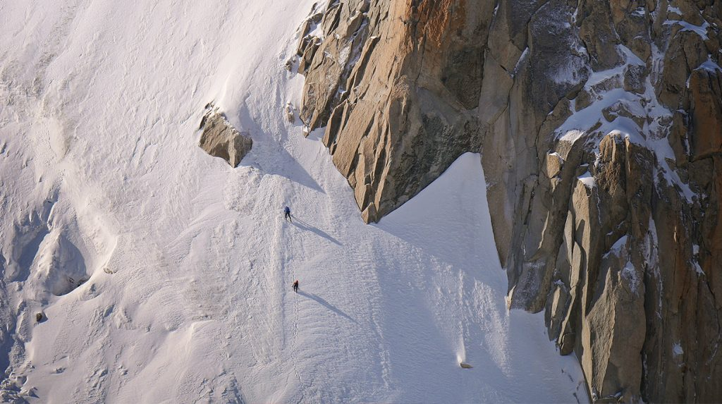alpine ice and mixed climbing on mont blanc de tacul