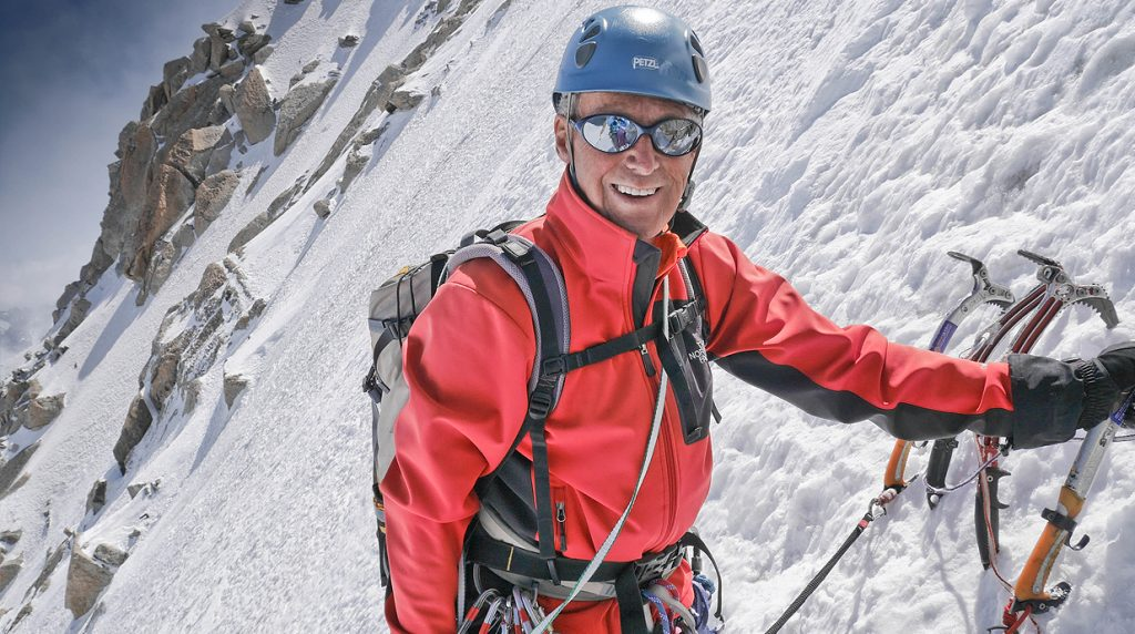 alpine climbing in chamonix with a British mountain guide