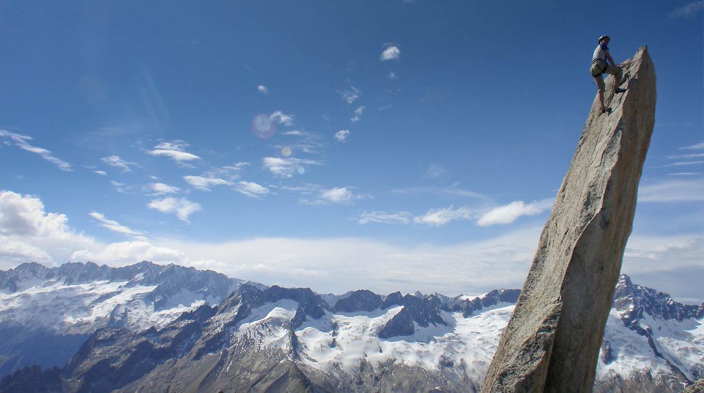 Alpine climbing with a British Mountain Guide
