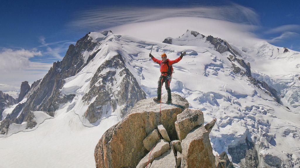 alpine climbing holiday in chamonix