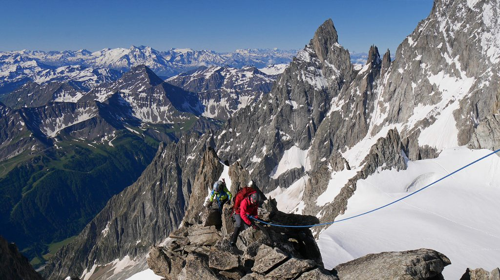 alpine mountaineering in chamonix with alpine guides
