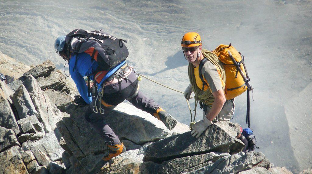 Descending the Matterhorn with an Alpine Guide