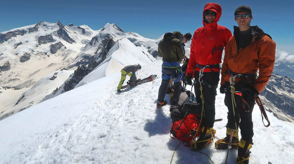 climb monte rosa week - high on the dufourspitze