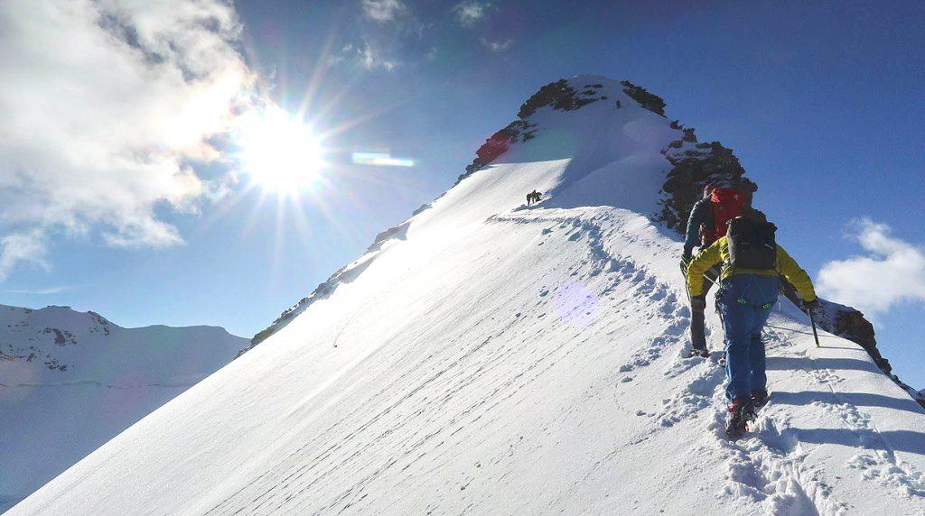 Monterosa guided climbing holiday