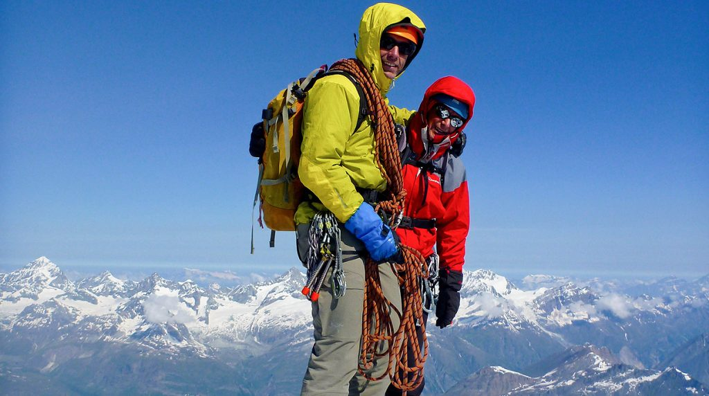 Climb Mionterosa with an IFMGA mountain Guide