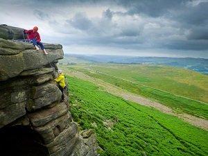 Peak District rock climbing