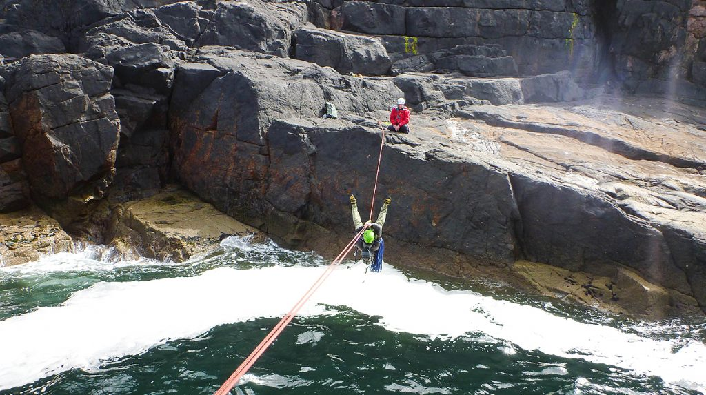 Scottish sea stack climbing guide