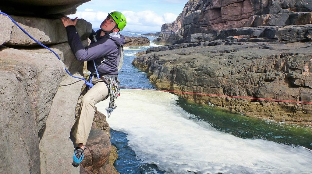 scottish sea stack climbing