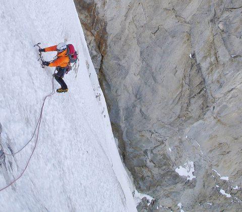 Winter Alpinism Couloir Climbing