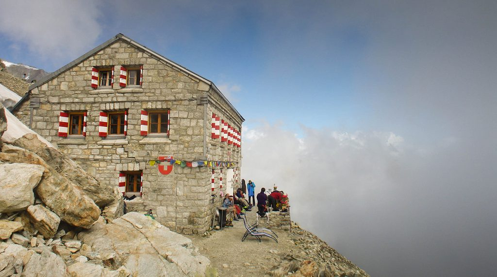 The Rothorn Hut - a great base for alpine mountaineering above zermatt