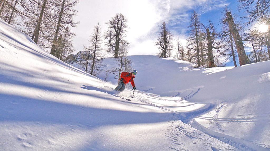 ski rtouering in val stura, italy