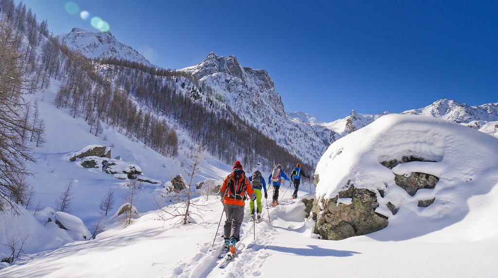 ski touring holiday in val stura, italy