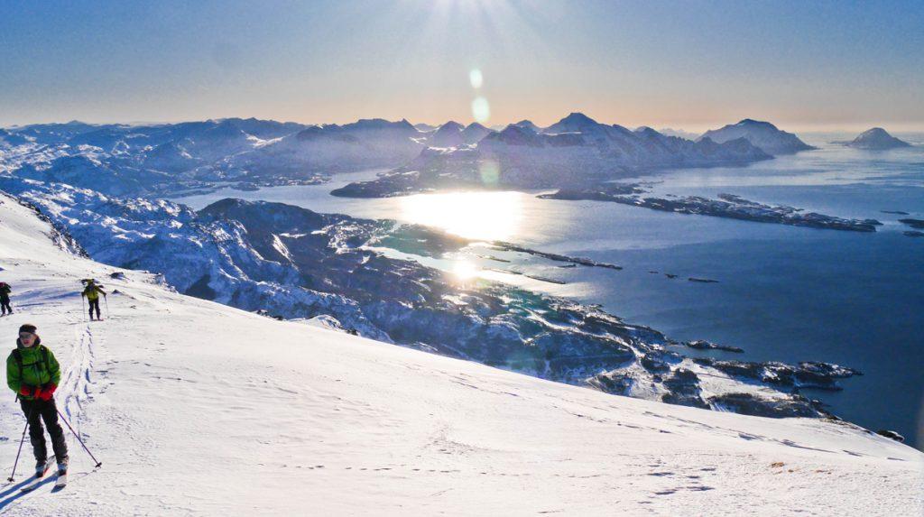 ski touring near bodo, arctic norway