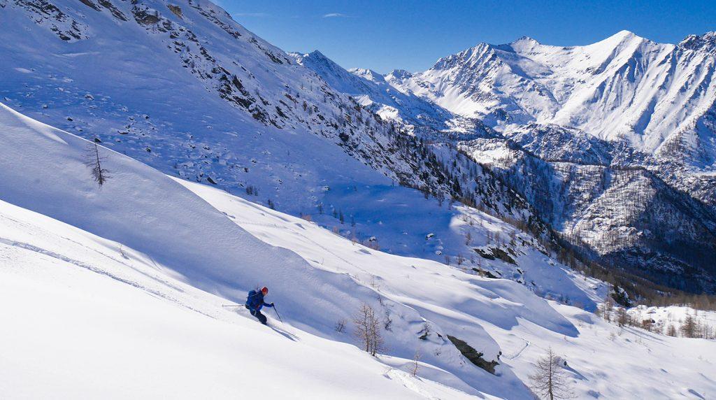 ski touring in val germanasca