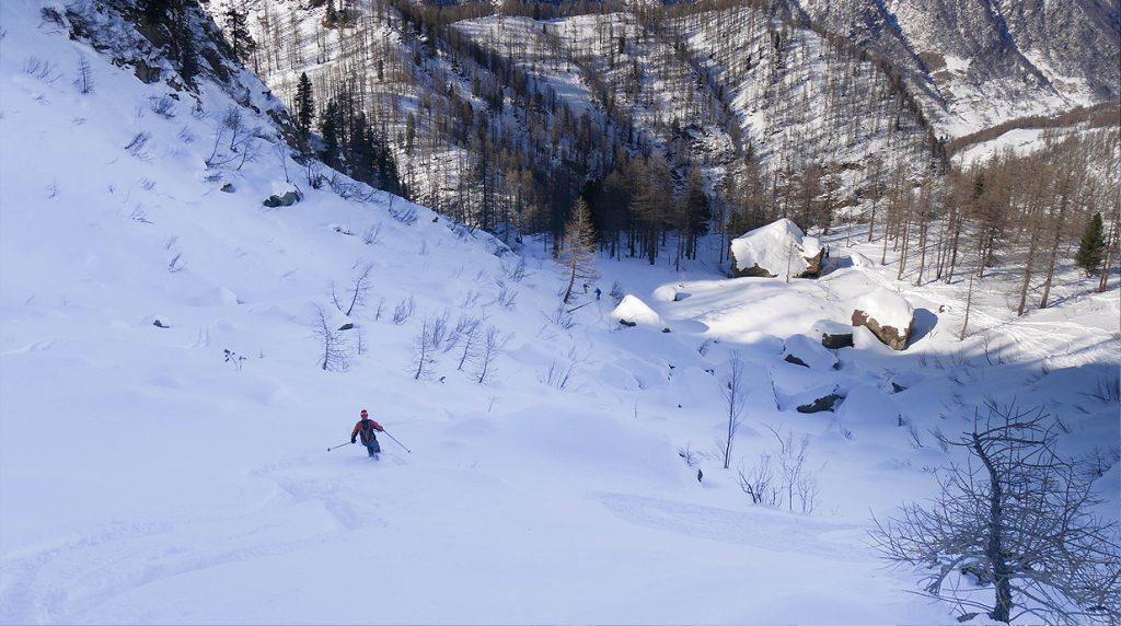 backcountry skiing prali