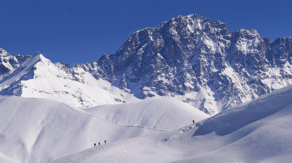 ski touring in ushguli, georgia