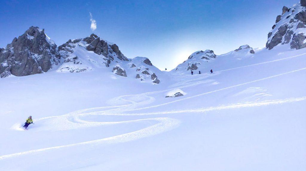 ski touring in the julian alps, slovenia