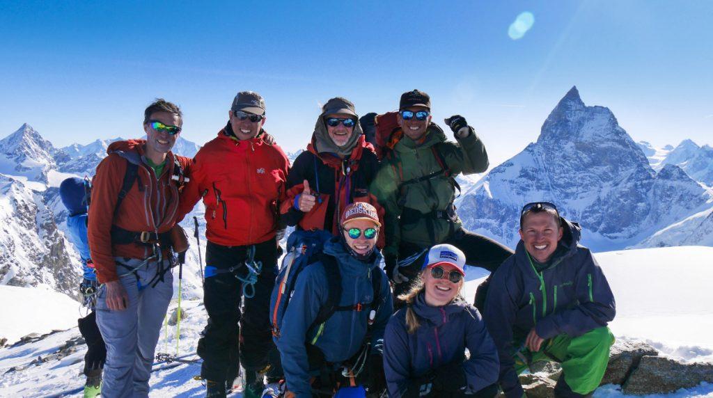 summit of the tete blanche on the Chamonix - Zermatt Summer Haute Route Trek with Alpine Guides