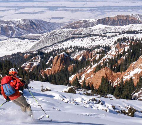 Kyrgyzstan Yurt Skiing