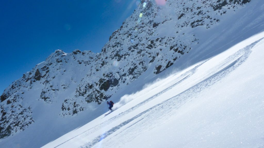 ski touring in bivio, eastern switzerland