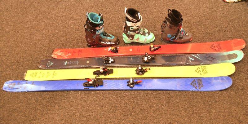 womens lightweight ski touring setups