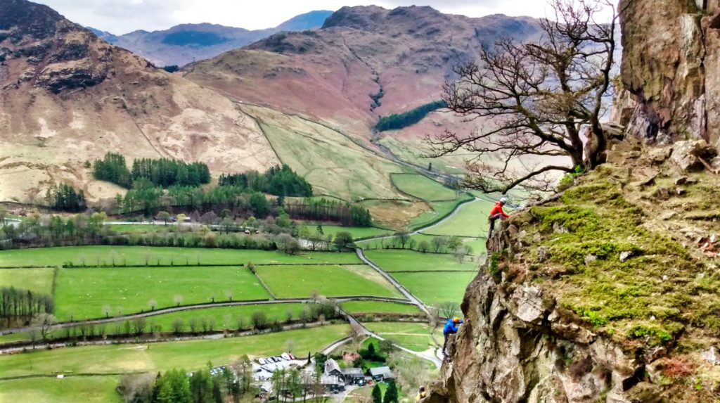 Uk Lake District classic rock climbing