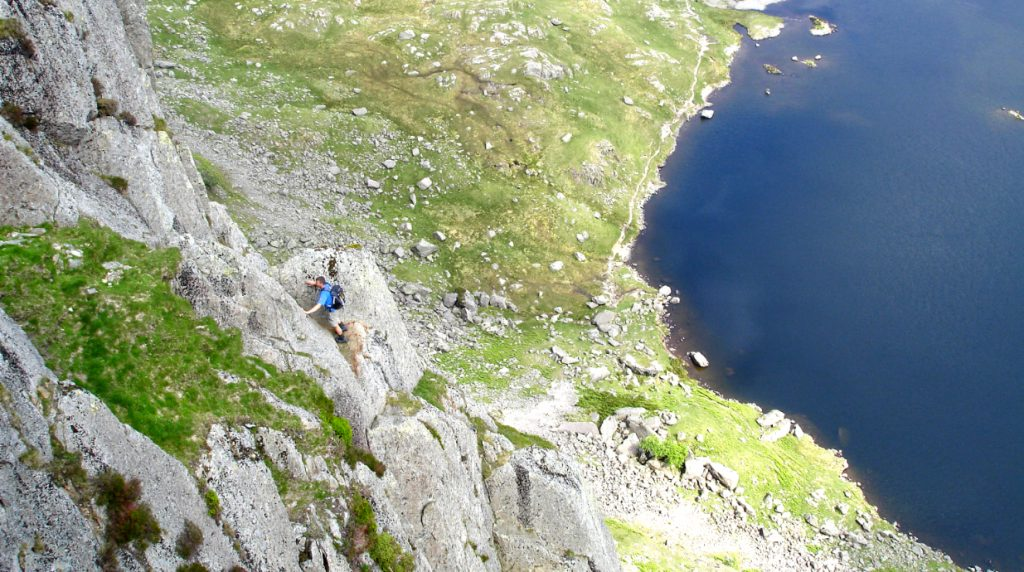 classic lake district scrambling on Jacks Rake