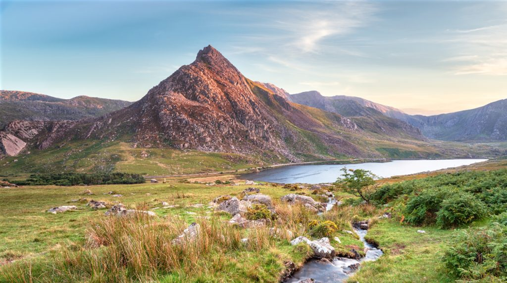 Tryfan classic rock climbing venue in North Wales