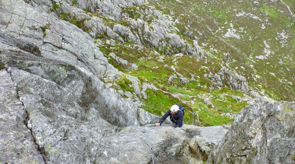 Guided rock climbing in North Wales