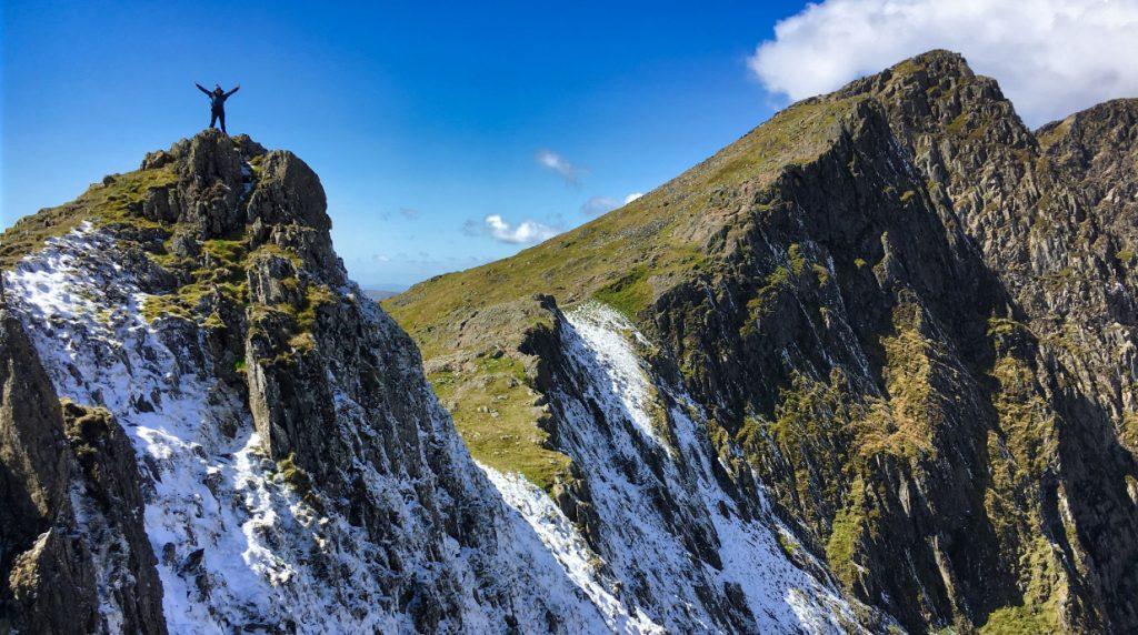 scrambling in Snowdonia north wales