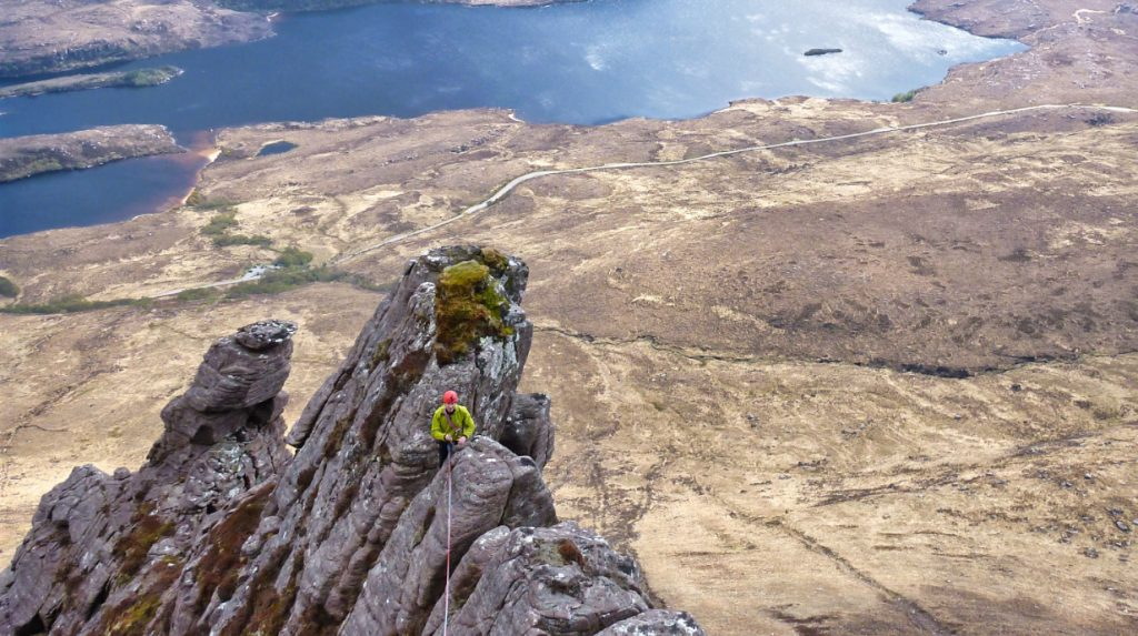 Scottish classic rock climb