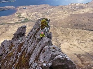 scrambling on stac pollaidh