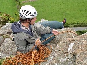 rock climbing at tremadog in north wales