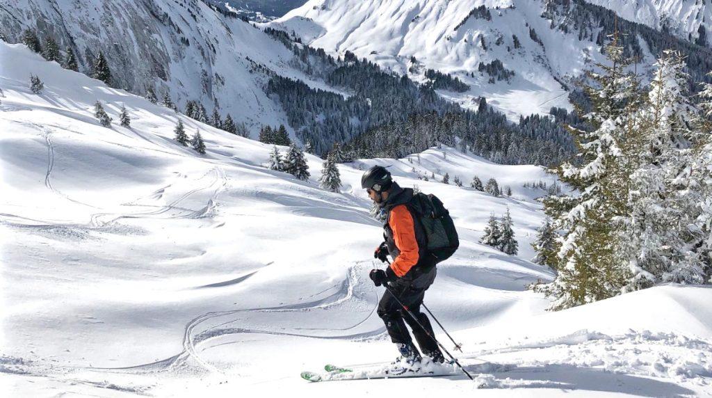 off piste skiing course chamonix